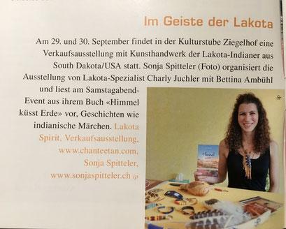 "Kurz-Bericht im Magazin ""Lima"", September 2018"