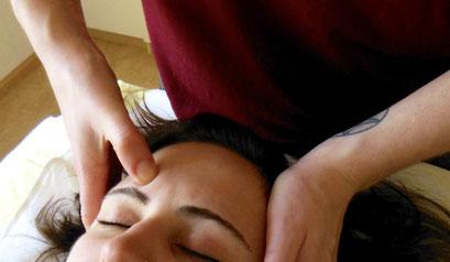 Schädelreflexzonen-Behandlung