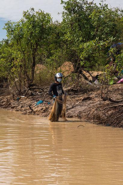 Tonle Sap See mit Niedrigwasser