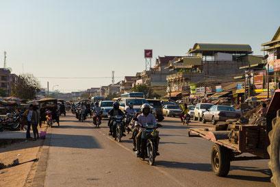 die Straßen von Siem Reap