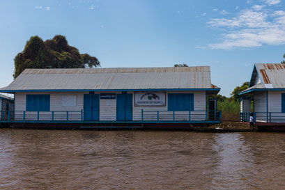 Tonle Sap See: schwimmende Dörfer mit Schule