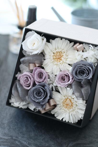 16。ボックスアレンジメント生徒様作品 7,300円~ Preserved Flower