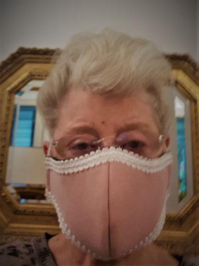 Damenmaske rosa