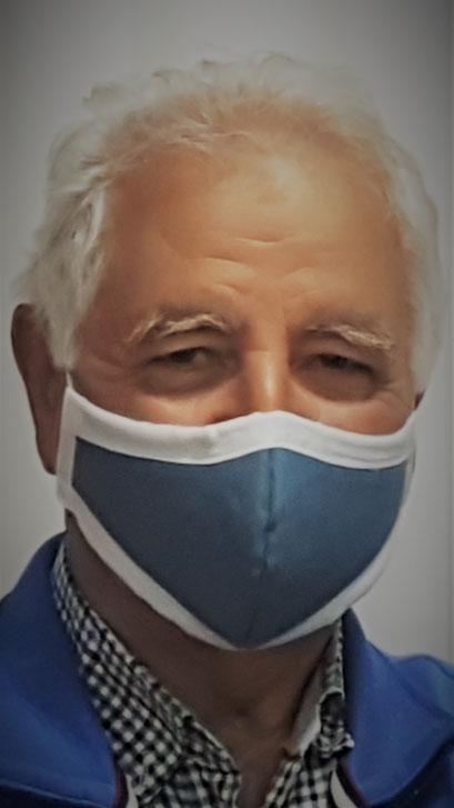 elegant, sportliche Herrenmaske mit Filter_blau