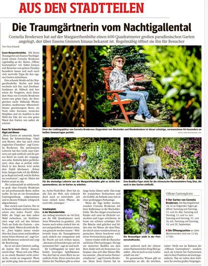 WAZ-Ausgabe Essen (Stadtteilseite) v. 16.05.2020
