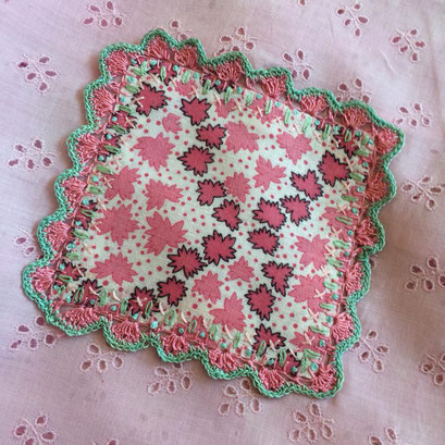 Crocheted patch for a favorite vintage dress.