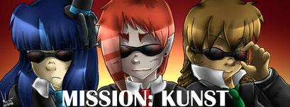 Mission Kunst ~ Titelbild auf Facebook mit Alina, Kusú & Cylan ~ Painttool Sai