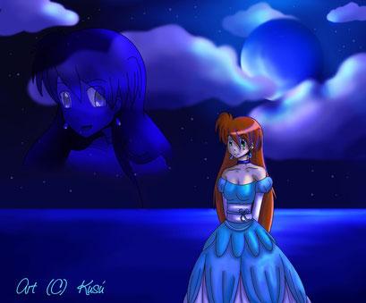 Bei Mondschein am Meer ~ Gimp