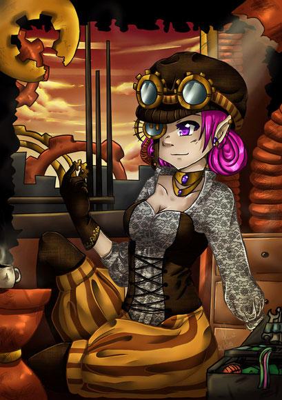 Steampunk ~ Postkartenmotiv ~ Painttool Sai