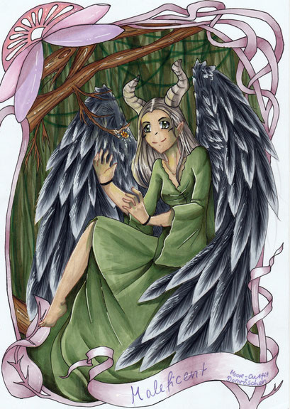 Maleficent ~ Artbook Projekt fürs Elfen & Feen Artbook auf Facebook ~ Copic Marker ~ A4