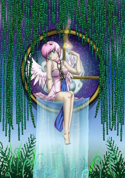 Wettbewerbsbeitrag für MIaow auf Animess ~ OC Gabriele ~ Painttool Sai & Photoshop