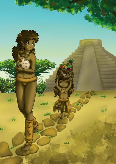 Maya Mädels ~ Überraschungsbild für Elma ~ Painttool Sai