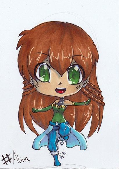 Chibi Alina ~ Copic Marker ~ A6
