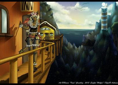 In der Welt zu Hause ~ OC Miranda ~ Ursprünglich ein Fanart zu Wakfu ~ Painttool Sai & Photoshop