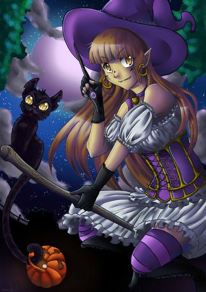 In der Nacht sind alle Katzen schwarz 1.0 ~ Arttrade I mit Elma ~ Painttool Sai ~ A4