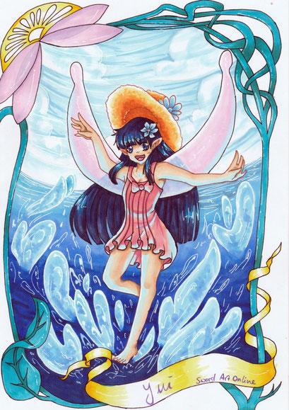 Yui aus Sword Art Online ~ Artbook Projekt fürs Elfen & Feen Artbook auf Facebook ~ Copic Marker ~ A4