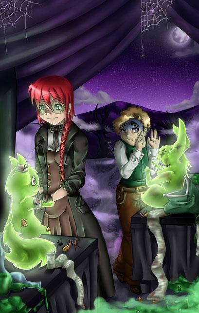 Toriki & Luis ~ Helferlage ~ Wettbewerbsbeitrag für Risto auf Animexx ~ Painttol Sai