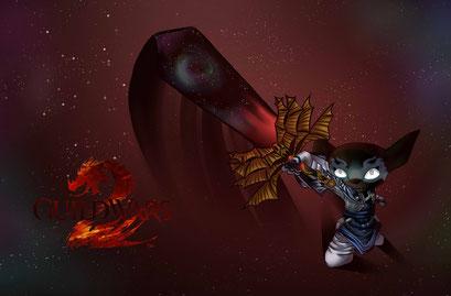 Varantus aus Guild Wars 2 ~ Asura Charakter meines Freundes ~ Überraschungsbild ~ Painttool Sai