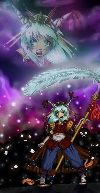 Soul of Higashiyama ~ Wettbewerbsbeitrag für  klonschaf-wolli auf Animexx ~Painttool Sai