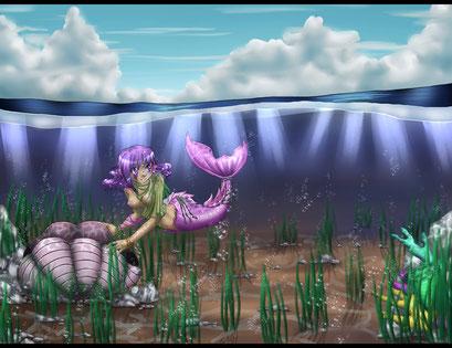 Unter dem Meer ~ Painttool Sai