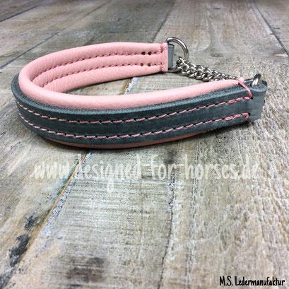 Lederkurs Hundehalsband aus Fettleder