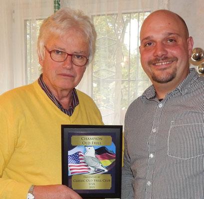 American Award ging an Dr. Martin Linde auf khakifahl m w Binden