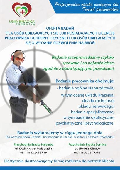 Plakat -broszura oferta badań
