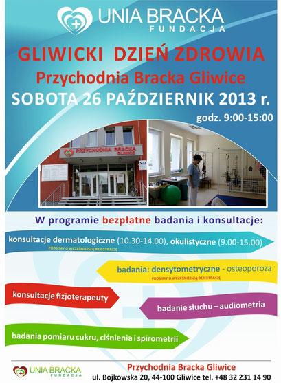 Plakat Gliwicki Dzień Zdrowia
