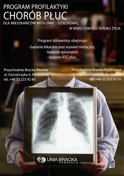 Plakat profilaktyki chorób płuc