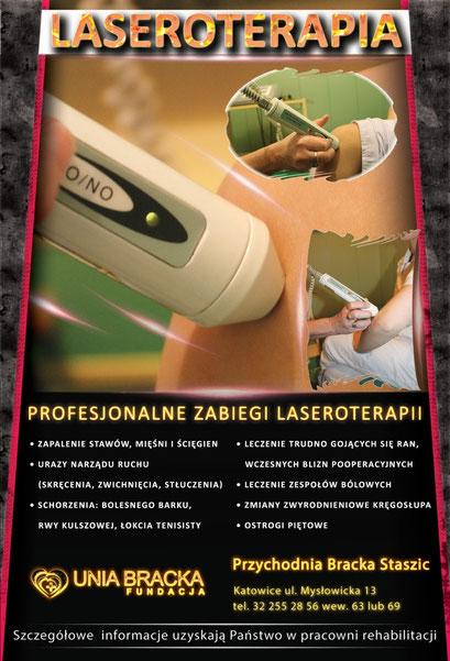 Plakat laseroterapia