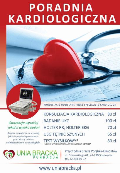 Plakat poradnia kardiologii