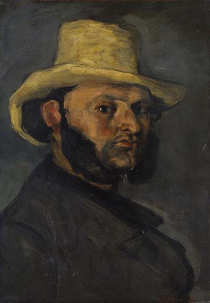 Mann mit dem Strohhut (Porträt von Boyer)