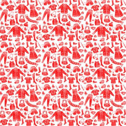 """Klamotten"" - Muster für ein Flyer Design"