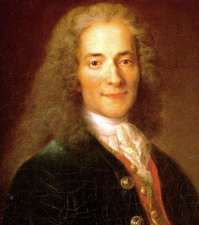 Voltaire (1694-1778), auteur des Lettres philosophiques, 1734