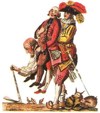 Le Tiers état avant la Révolution, caricature