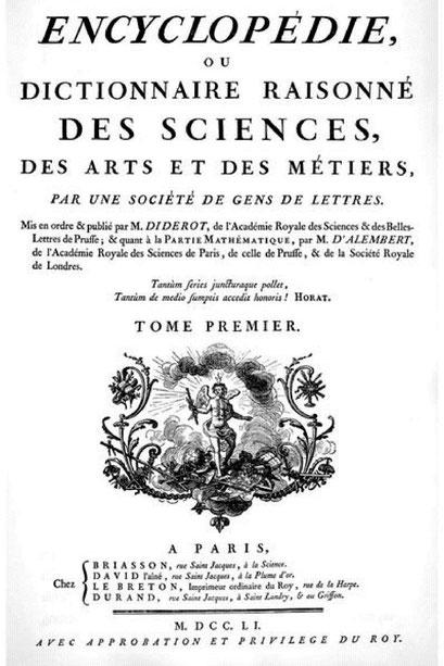 L'Encyclopédie de Diderot et d'Alembert