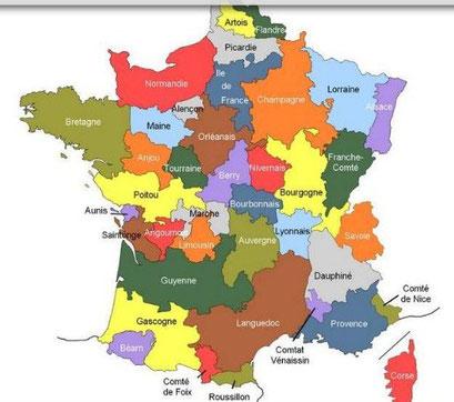 Les provinces françaises avant la Révolution