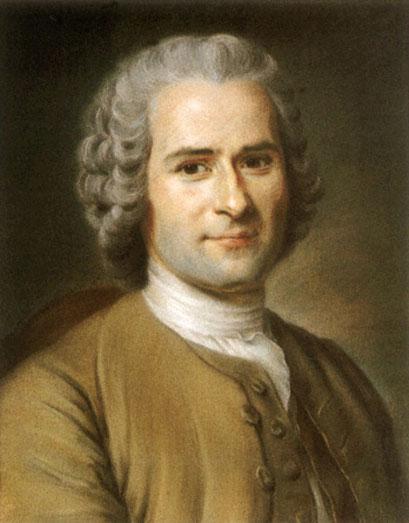 Rousseau (1712-1778), auteur du Contrat social, 1762