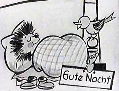 DDR-Sandmann Abendgruß-Live-Zeichnung, Richard Hambach