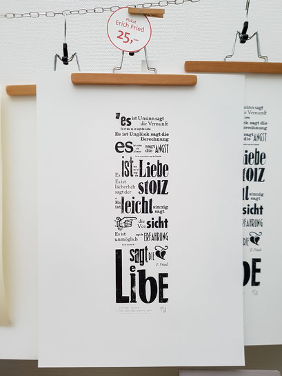 Das Erich Fried Plakat »Es ist was es ist«