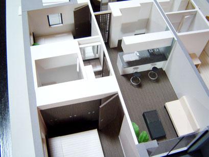 マンションモデルルーム展示用 タイプ別室内模型 S=1/30