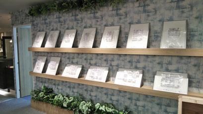 マンションモデルルーム展示用 タイプ別室内模型 白 S=1/50