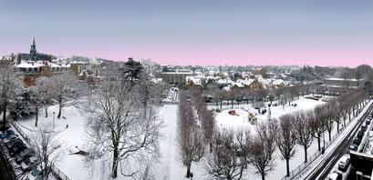 Parc Mairie du Raincy en hiver