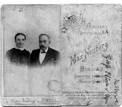 Pauline Caroline Latz & Carl Friedrich Wilhelm Katterwe ( Schuster aus Groß Graben )