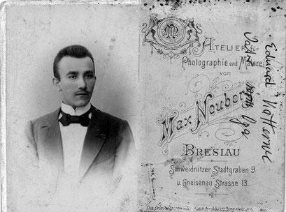 Eduard Gustav Katterwe ( Schneider Meister in der Matthiasstr.
