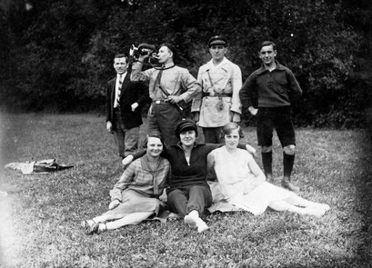 Herbert, Kurt, Erich, Helmut,Erna, Martha, Gertrud 1929 in Breslau