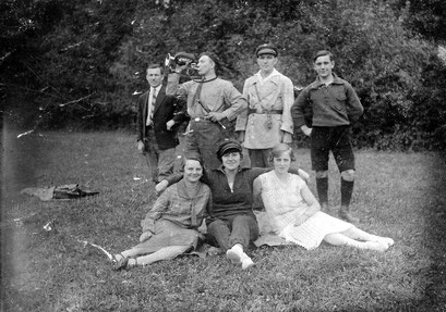 Junge Breslauer 1929 Herbert, Kurt, Erich, Helmut, Erna, Martha, Gertrud