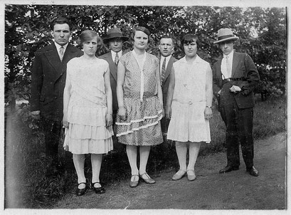 Erich,Gertrud,Helmut,Erna,Herbert - Hedwig und Willi Winkler