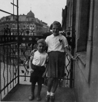 Rudi auf dem Balkon Matthiasstr.