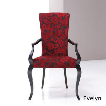 Evelyn silla clásica sillón clásico de comedor modesto navarro